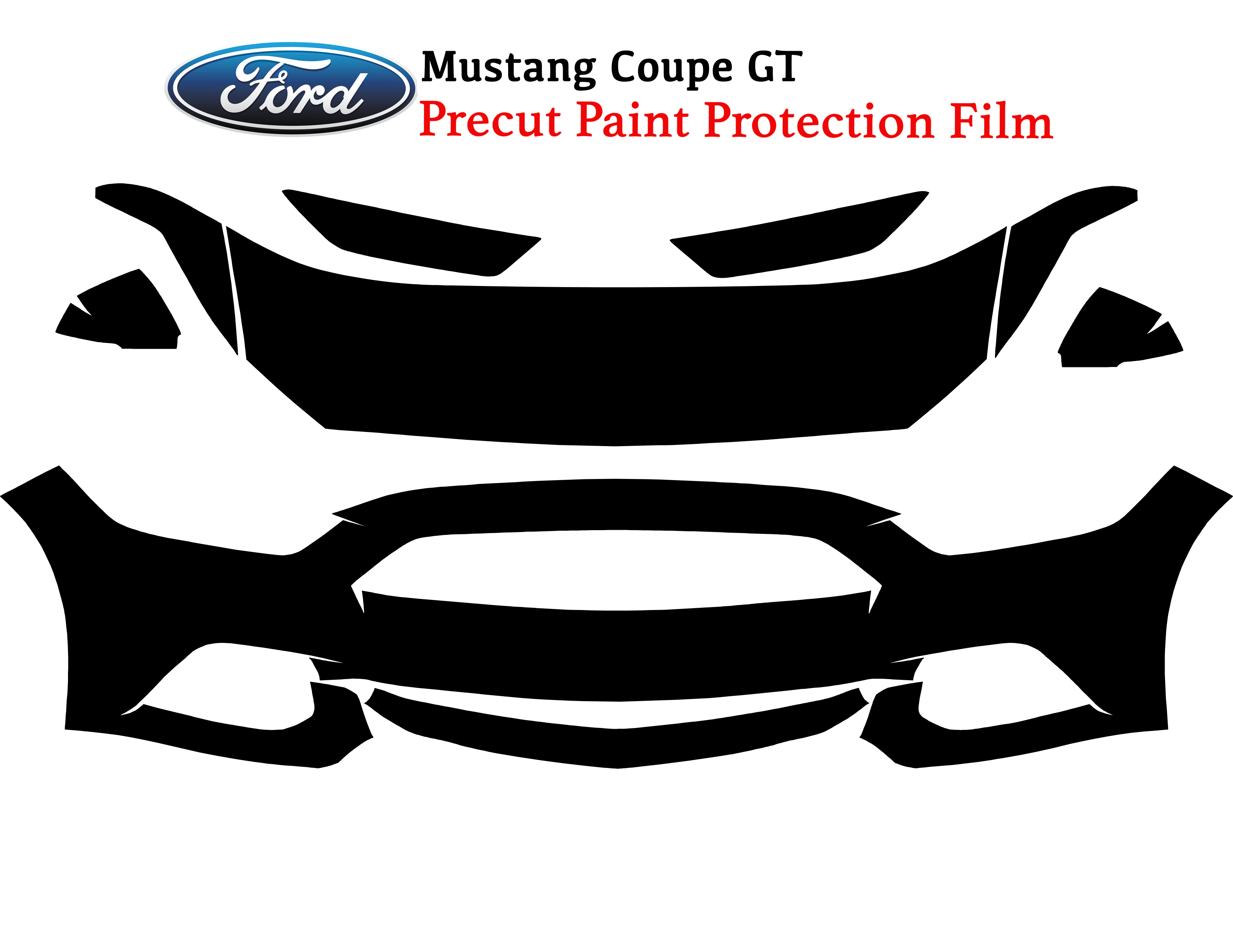 3M Paint Protection film for the Door Cup of a 2015-2017 Ford Mustang
